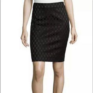 DIANE VON FURSTENBERG Emma Black on Black Skirt 14